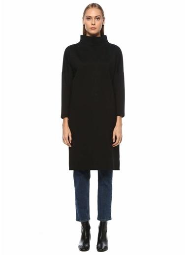 Beymen Collection Beymen Collection  Yarım Balıkçı Yaka Yırtmaçlı Midi Sweatshirt 101508949 Siyah